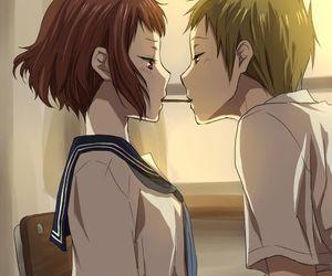 anime, hyouka, and kiss image