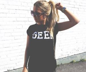 geek, blonde, and hair image