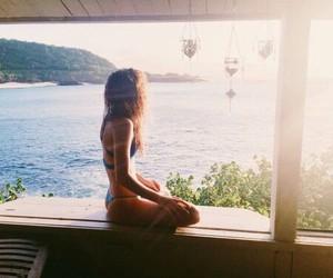 beach, meditation, and summer image