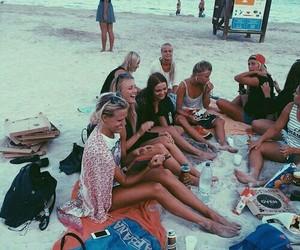 beach, girls, and fun image