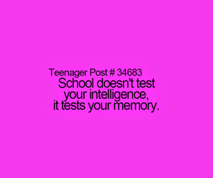 quote, school, and teenager image