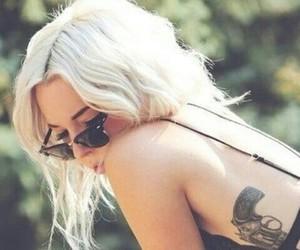 blonde, glasses, and platinum image
