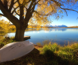 beautiful, land, and boat image