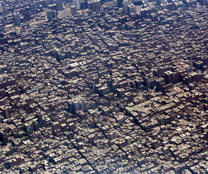 aerial view, city, and crowded image