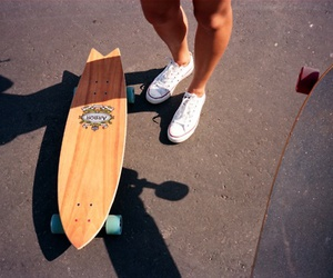 photography, longboard, and skate image