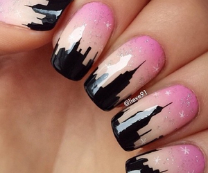 nails, pink, and city image