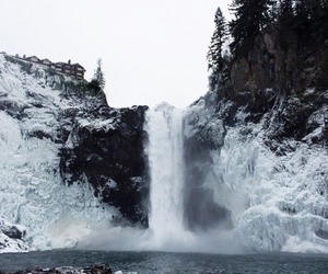 blue, waterfall, and indie image