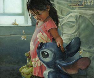 disney, lilo & stitch, and art image