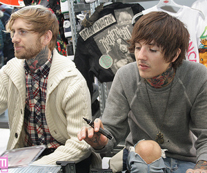 oliver sykes, bring me the horizon, and bmth image