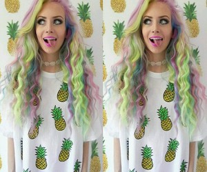 beautiful, hair color, and tumblr girl image