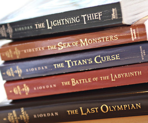 book, percy jackson, and rick riordan image