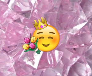 background, crown, and flowers image