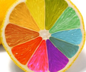 rainbow, lemon, and orange image