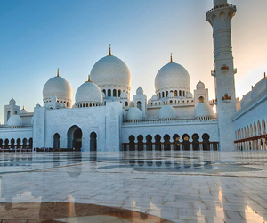 abu dhabi, mosque, and discover image