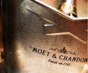 champagne, luxury, and moet & chandon image