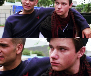 glee, puck, and chris colfer image