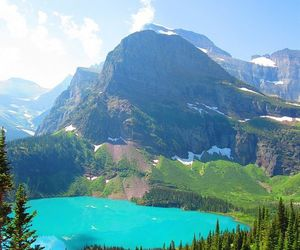 Glacier National Park, montana, and grinnell lake image