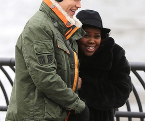 glee, amber riley, and chord overstreet image