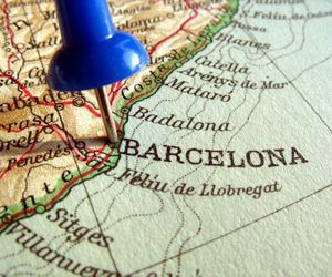 Barcelona, beautiful, and map image