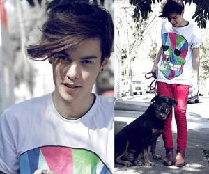 boy, dog, and handsome image