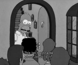 homer, jesus, and simpsons image