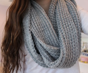 scarf, fashion, and gray image