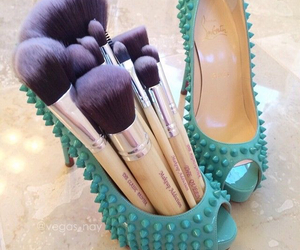 shoes, makeup, and Brushes image