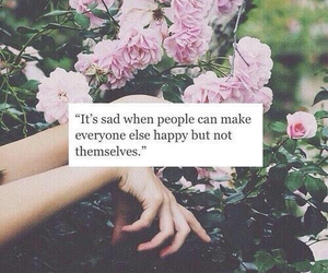 quotes, sad, and flowers image