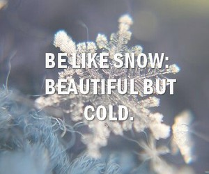 beautiful, quote, and snow image