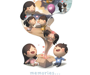 love, memories, and couple image