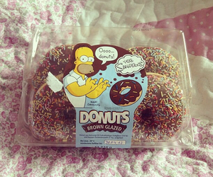 donuts, food, and simpsons image