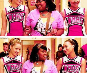 glee, amber riley, and dianna agron image