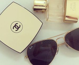 chanel, rayban, and sunglasses image