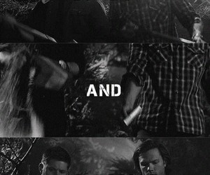 black and white, brothers, and dean image