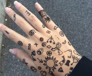 grunge, hand, and tattoo image