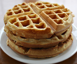 food, waffles, and love image