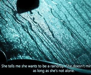 raindrops, alone, and rain image