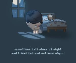 sad, alone, and night image