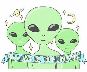 alien, humans, and space image