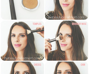 bronze, makeup, and beauty image