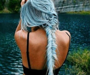 blue hair, grunge, and long hair image