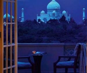 night, india, and taj mahal image