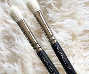 girl, Brushes, and mac image