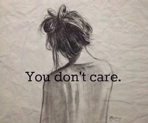 care, you, and sad image