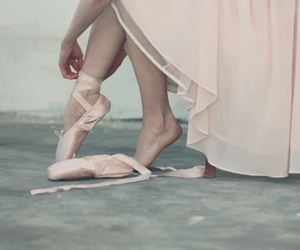 ballerina, ballet, and pointshoes image