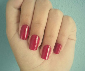 glamour, red, and nails image