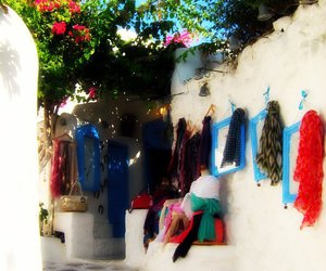 blue, dress, and Greece image