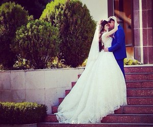 beautiful, girl, and marriage image