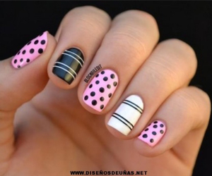 black, nice, and nail art image