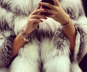 fashion, fur, and nails image
